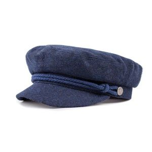 NWT Brixton Fiddler Cap in Washed Navy XS